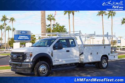 2021 F-550 Super Cab DRW 4x4,  Royal Truck Body Utility Crane Body Mechanics Body #21P407 - photo 1