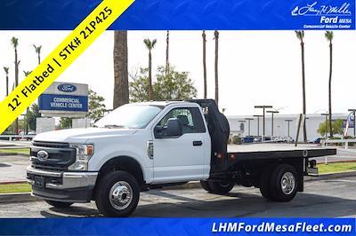 2021 Ford F-350 Regular Cab DRW 4x4, Knapheide Value-Master X Platform Body #21P425 - photo 1