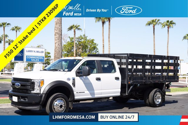 2017 Ford F-550 Crew Cab DRW 4x4, Stake Bed #23096P - photo 1