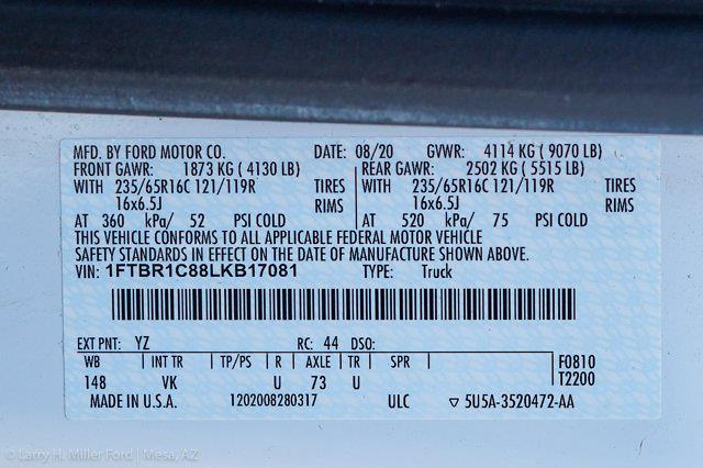 2020 Ford Transit 250 Med Roof 4x2, Empty Cargo Van #23476P - photo 24