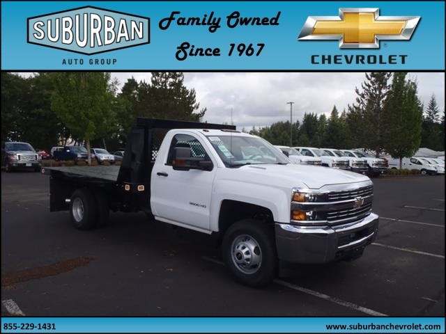 2015 Silverado 3500 Regular Cab, Knapheide Platform Body #T150079 - photo 3