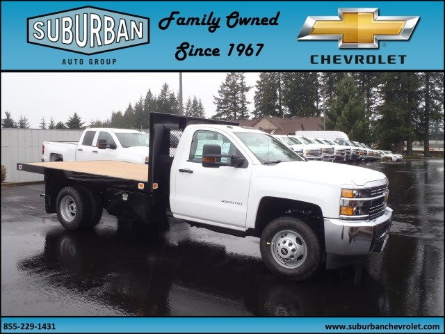 2017 Silverado 3500 Regular Cab 4x4, Knapheide Platform Body #T170364 - photo 4