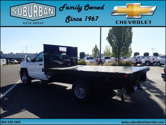 2017 Silverado 3500 Regular Cab DRW, Reading Platform Body #T170595 - photo 2