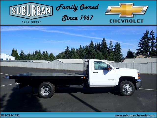 2017 Silverado 3500 Regular Cab DRW, Reading Platform Body #T170595 - photo 5