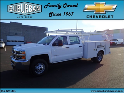 2017 Silverado 3500 Crew Cab DRW 4x2,  Reading Classic II Steel Service Body #T170893 - photo 1
