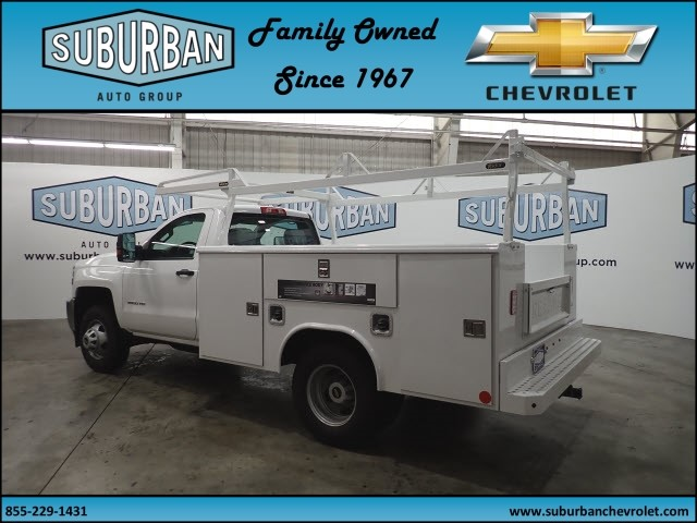 2017 Silverado 3500 Regular Cab DRW 4x4, Reading Classic II Steel Service Body #T170940 - photo 2