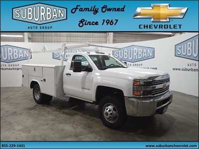 2017 Silverado 3500 Regular Cab DRW 4x4, Reading Classic II Steel Service Body #T170940 - photo 6