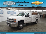 2017 Silverado 3500 Regular Cab DRW 4x4, Reading Classic II Steel Service Body #T170940 - photo 1