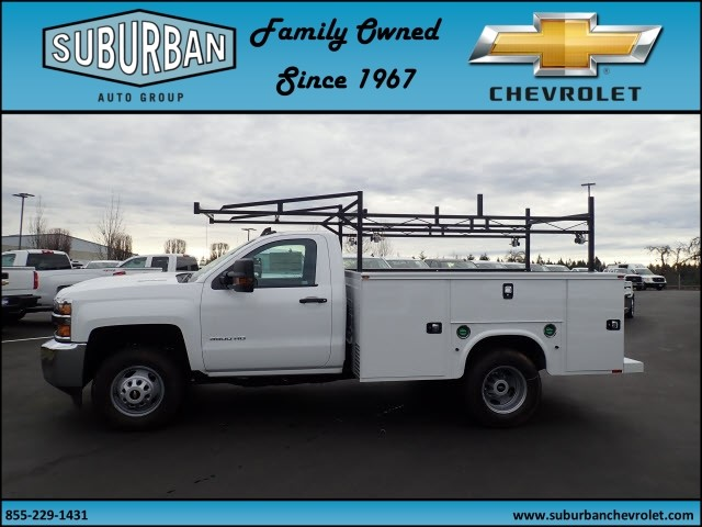 2018 Silverado 3500 Regular Cab DRW 4x4,  Knapheide Standard Service Body #T180251 - photo 3