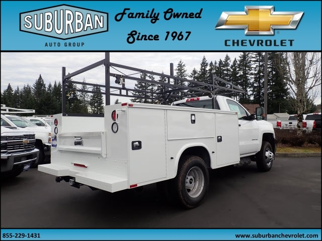 2018 Silverado 3500 Regular Cab DRW 4x4,  Knapheide Service Body #T180251 - photo 4