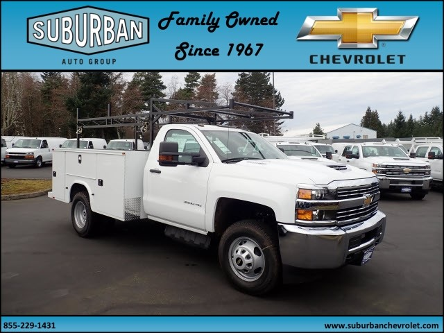 2018 Silverado 3500 Regular Cab DRW 4x4,  Knapheide Standard Service Body #T180251 - photo 5
