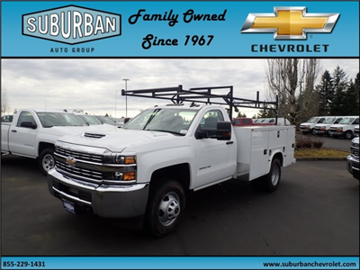 2018 Silverado 3500 Regular Cab DRW 4x4,  Knapheide Standard Service Body #T180251 - photo 1