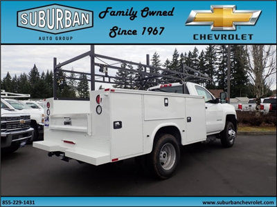 2018 Silverado 3500 Regular Cab DRW 4x4,  Knapheide Standard Service Body #T180251 - photo 4