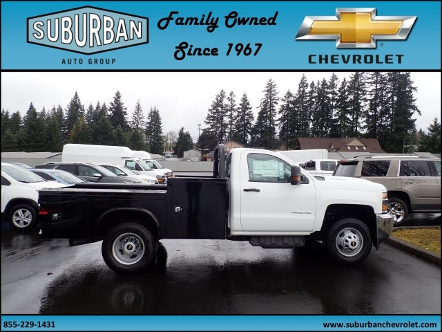 2018 Silverado 3500 Regular Cab DRW 4x4,  Knapheide Platform Body #T180592 - photo 5