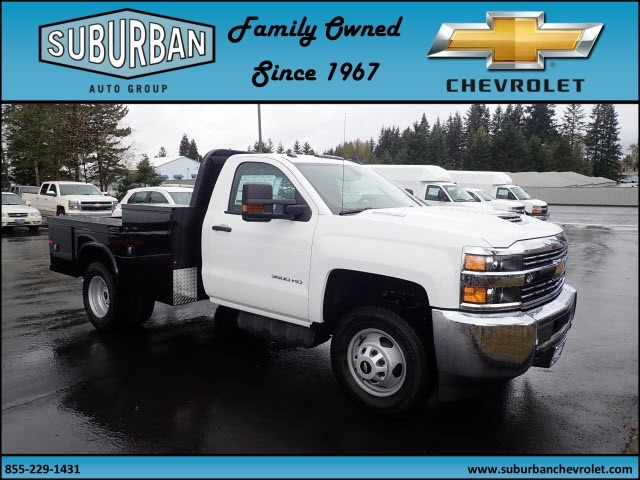 2018 Silverado 3500 Regular Cab DRW 4x4,  Knapheide Platform Body #T180592 - photo 6