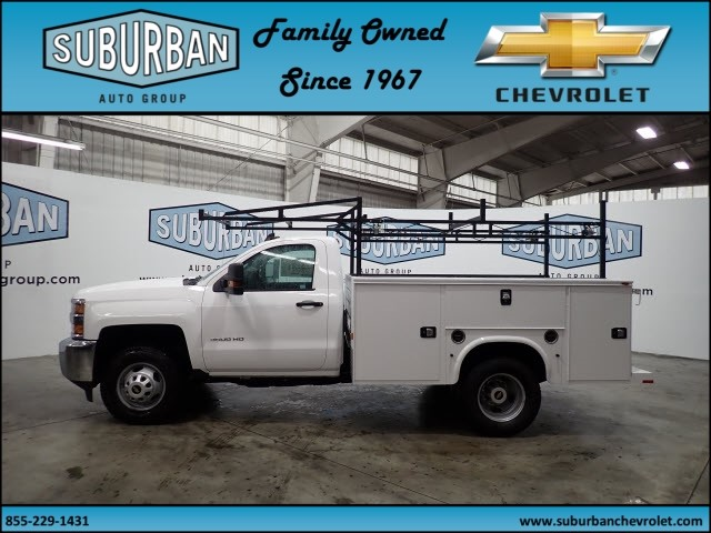 2019 Silverado 3500 Regular Cab DRW 4x4,  Knapheide Service Body #T190049 - photo 3
