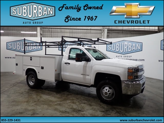 2019 Silverado 3500 Regular Cab DRW 4x4,  Knapheide Service Body #T190049 - photo 6