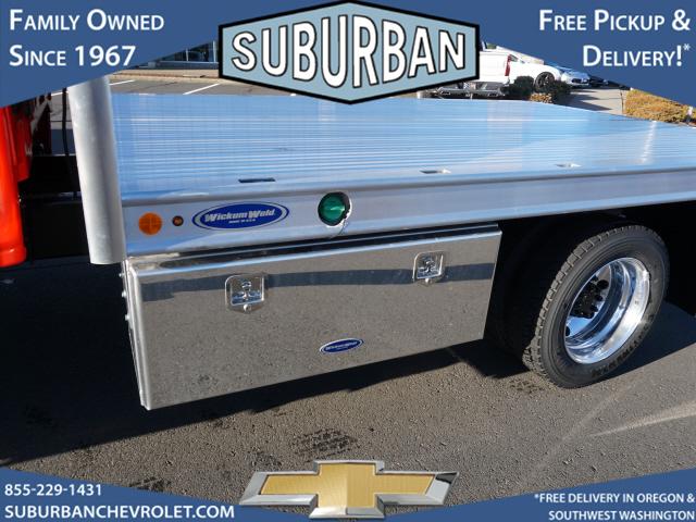 2020 Chevrolet Silverado 5500 Crew Cab DRW 4x4, Wickum Weld Platform Body #T200583 - photo 1