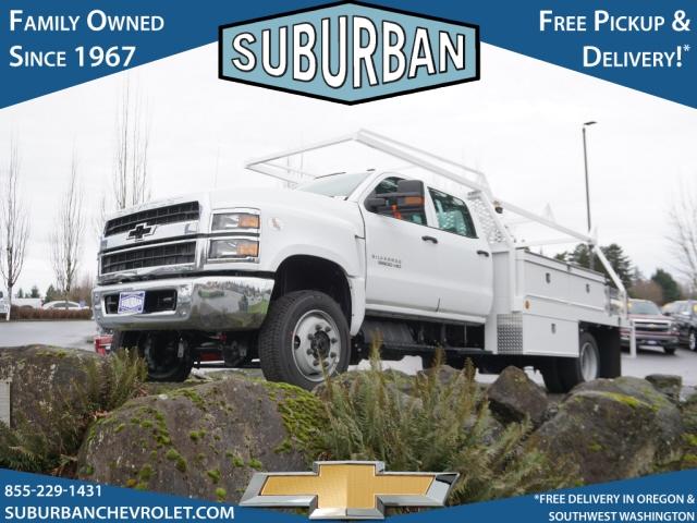 2020 Chevrolet Silverado 5500 Crew Cab DRW 4x4, Scelzi Contractor Body #T200929 - photo 1