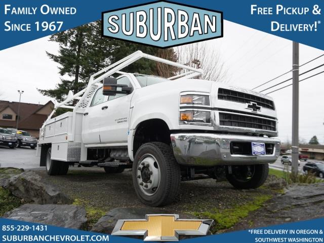 2020 Chevrolet Silverado 5500 Crew Cab DRW 4x4, Scelzi CTFB Contractor Body #T200929 - photo 3