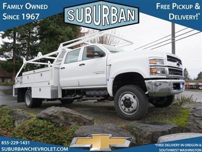 2020 Chevrolet Silverado 5500 Crew Cab DRW 4x4, Scelzi CTFB Contractor Body #T200929 - photo 4