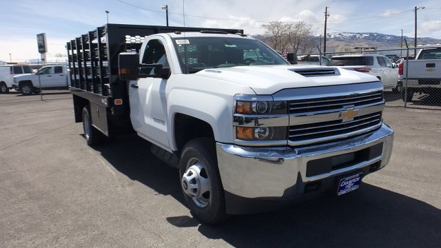 2018 Silverado 3500 Regular Cab DRW, Knapheide Stake Bed #18-1154 - photo 4