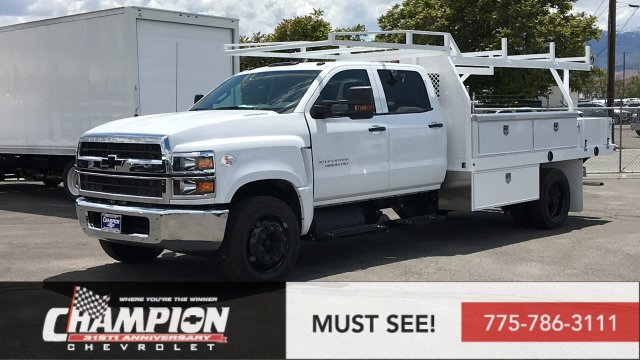 2019 Silverado Medium Duty Crew Cab 4x2,  Harbor Contractor Body #19-0761 - photo 1