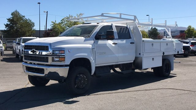 2019 Silverado 5500 Crew Cab DRW 4x4, Harbor Contractor Body #19-1367 - photo 1