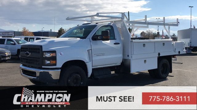 2019 Chevrolet Silverado 5500 Regular Cab DRW RWD, Harbor Contractor Body #19-1435 - photo 1