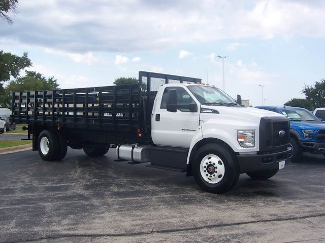 2019 F-650 Regular Cab DRW 4x2, Parkhurst Stake Bed #KDF06624 - photo 1