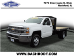 2017 Silverado 3500 Regular Cab DRW, Monroe Platform Body #17158 - photo 1