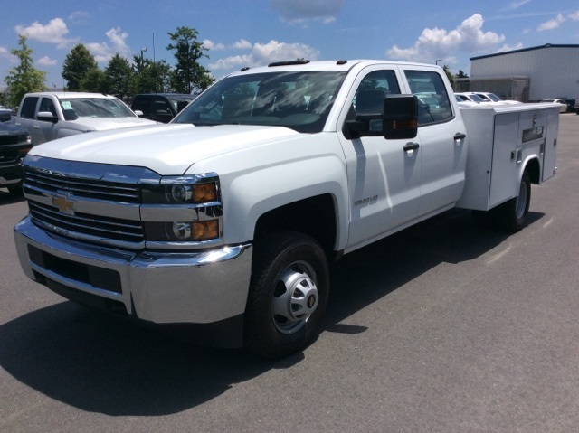 2017 Silverado 3500 Crew Cab DRW, Reading Classic II Steel Service Body #HF135414 - photo 1