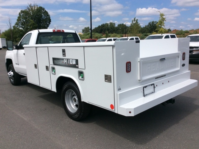 2017 Silverado 3500 Regular Cab DRW, Reading Service Body #HF214964 - photo 2
