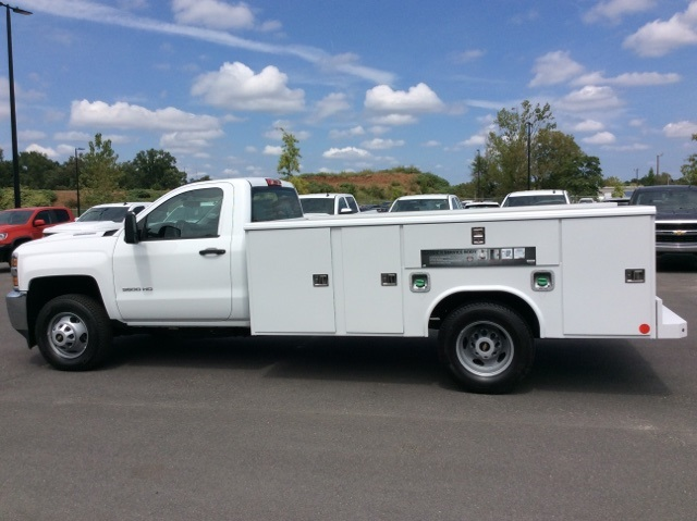 2017 Silverado 3500 Regular Cab DRW, Reading Service Body #HF214964 - photo 8