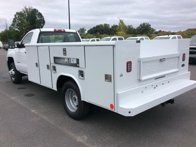 2017 Silverado 3500 Regular Cab DRW, Reading Service Body #HF219901 - photo 2