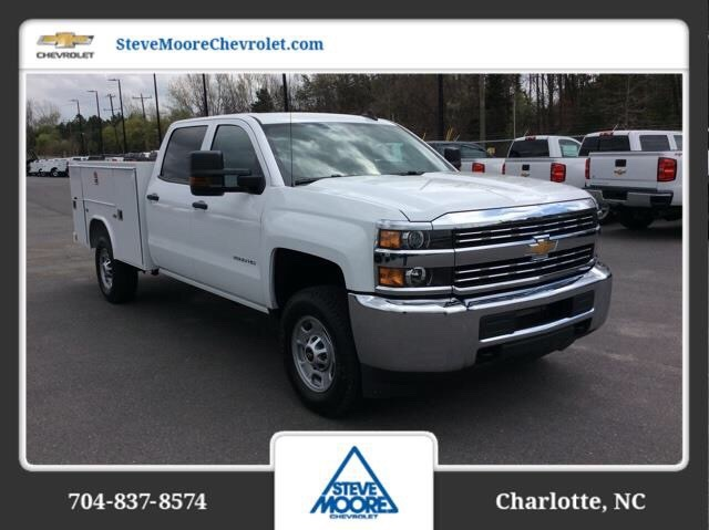 2018 Silverado 2500 Crew Cab 4x2,  Reading SL Service Body #JF223896 - photo 3