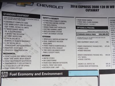 2018 Express 3500 4x2,  Supreme Spartan Cargo Cutaway Van #J1335892 - photo 15