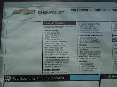 2021 Chevrolet Express 2500 4x2, Upfitted Cargo Van #M1197059 - photo 18