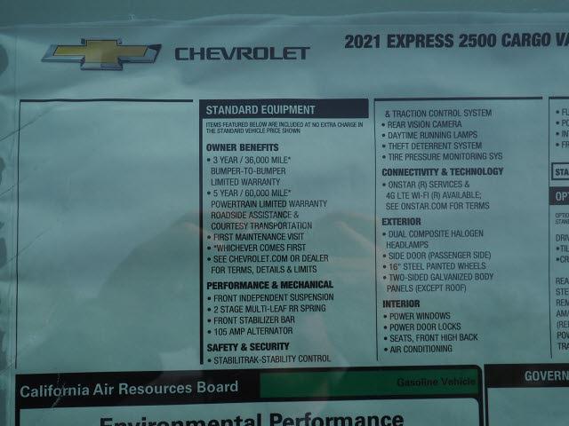 2021 Chevrolet Express 2500 4x2, Upfitted Cargo Van #M1215991 - photo 18