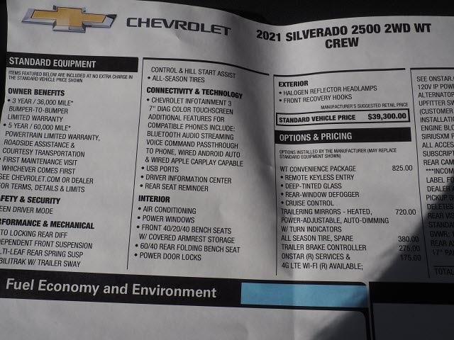 2021 Chevrolet Silverado 2500 Crew Cab 4x2, Service Body #MF172918 - photo 18