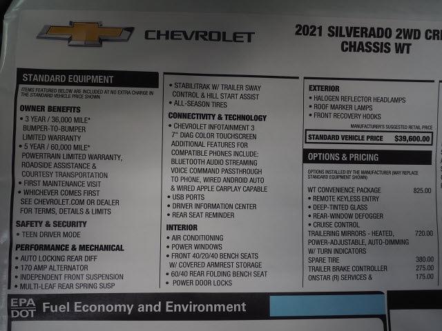 2021 Chevrolet Silverado 3500 Crew Cab 4x2, Platform Body #MF199916 - photo 18