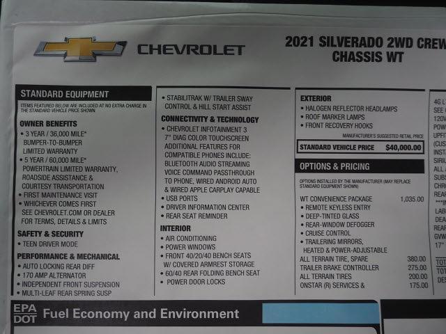 2021 Chevrolet Silverado 3500 Crew Cab 4x2, Platform Body #MF243604 - photo 18
