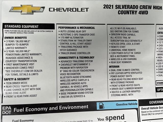 2021 Chevrolet Silverado 1500 Crew Cab 4x4, Pickup #MG389319 - photo 15
