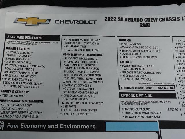 2022 Silverado 3500 Crew Cab 4x2,  Cab Chassis #NF113660 - photo 18