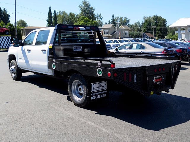 2017 Silverado 3500 Crew Cab 4x4, Platform Body #13967 - photo 2