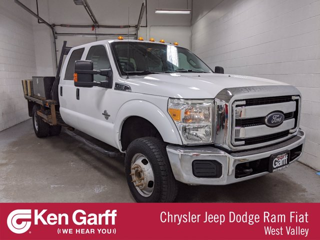 2013 Ford F-350 Crew Cab DRW 4x4, Contractor Body #1DX3911 - photo 1