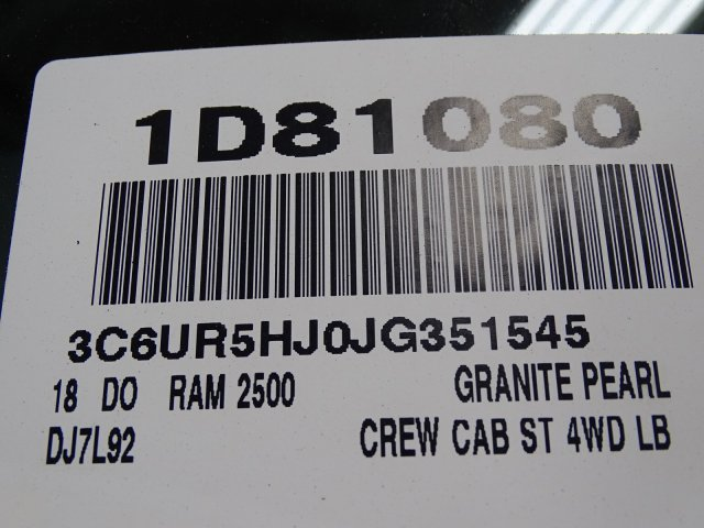 2018 Ram 2500 Crew Cab 4x4,  Pickup #1D81080 - photo 11