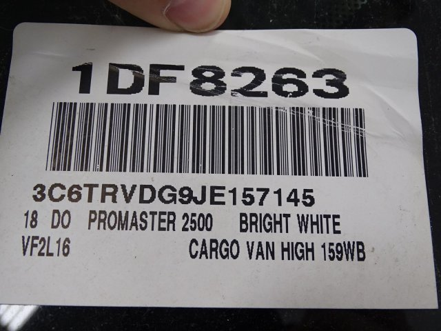 2018 ProMaster 2500 High Roof FWD,  Empty Cargo Van #1DF8263 - photo 11