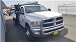 2017 Ram 3500 Regular Cab DRW 4x4,  Harbor Black Boss Flatbed Platform Body #R170642 - photo 6