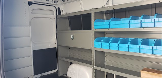 2018 ProMaster 2500 High Roof FWD,  Adrian Steel Upfitted Cargo Van #R180450 - photo 13